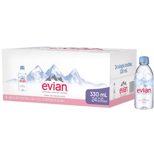 Evian Natural Mineral Water (24 X 330 ml)