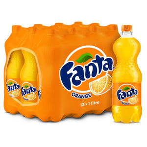Fanta Orange Bottle (12 x 1 L) - Sanadeeg