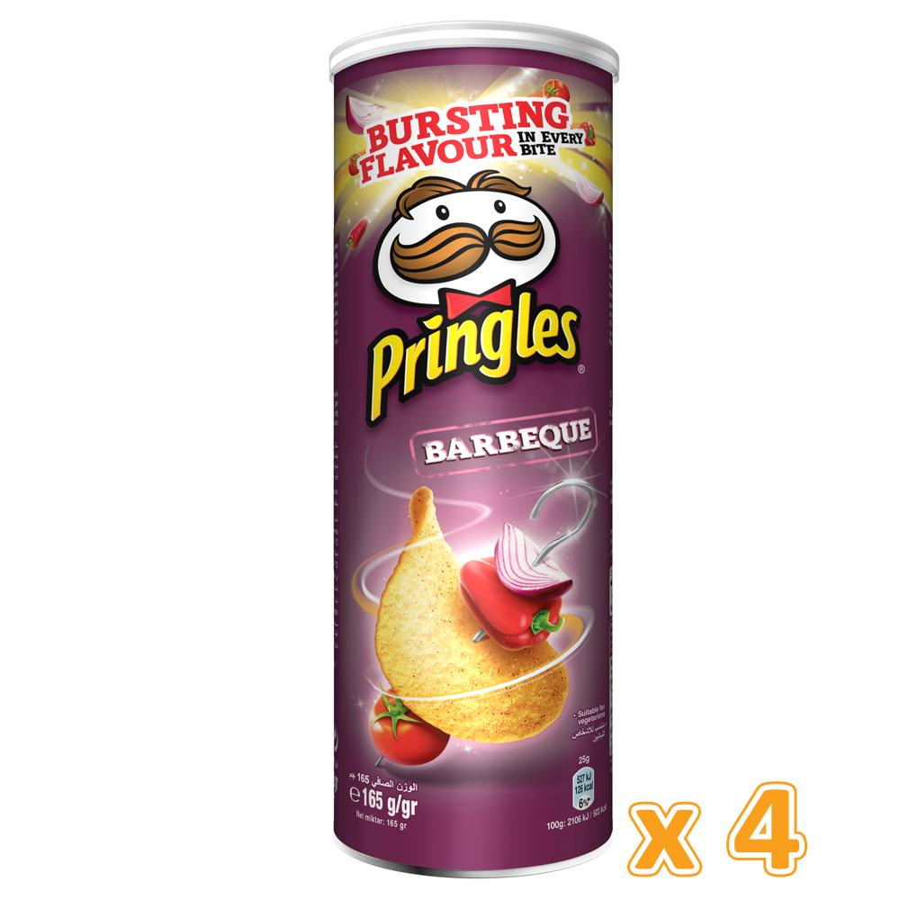 Pringles Barbecue Chips (4 x 165 Gm) - Sanadeeg