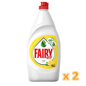 Fairy Dish Washing Liquid Lemon (750 ml X 2)