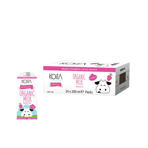 Koita Organic Strawberry Milk (24 x 200 ML)