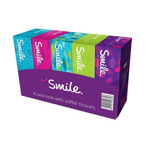 Fine Facial Tissues NEW Smile - 2 PLY ( 5 X 150 Sheets)
