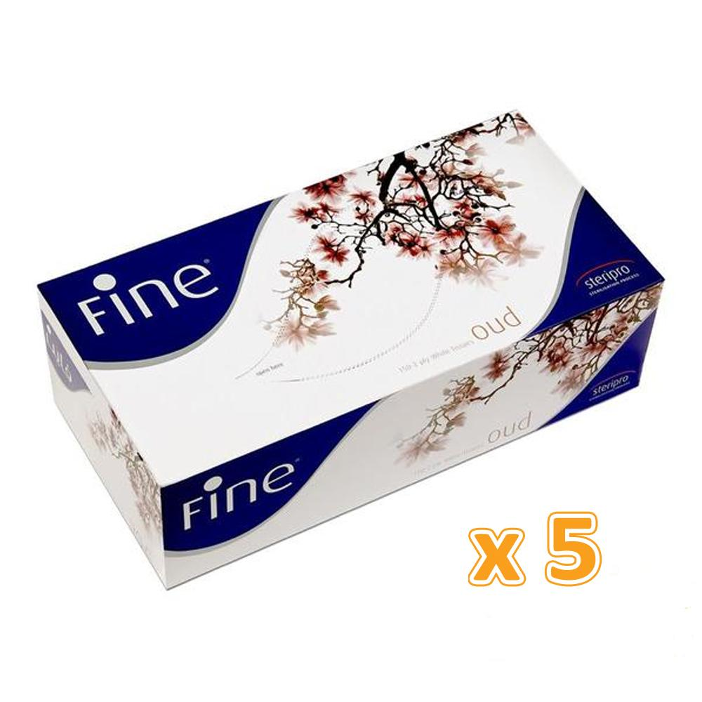 Fine Facial Tissues - Oud  2 Ply ( 5 X 150 sheets)