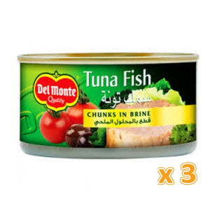 Del Monte Tuna Fish Chunk In Brine (3 X 185 Gm) - Sanadeeg