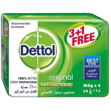 Dettol Soap Original Anti-Bacterial Bars (3+1 X 165 gm)