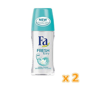 Fa Roll Deodorant - Fresh & Dry (2 X 50 ml)