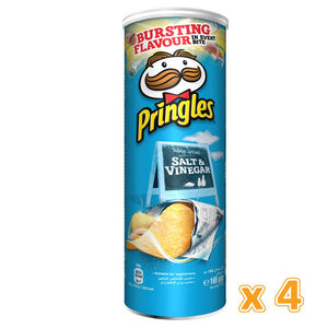 Pringles Salt & Vinegar Chips (4 x 165 Gm) - Sanadeeg