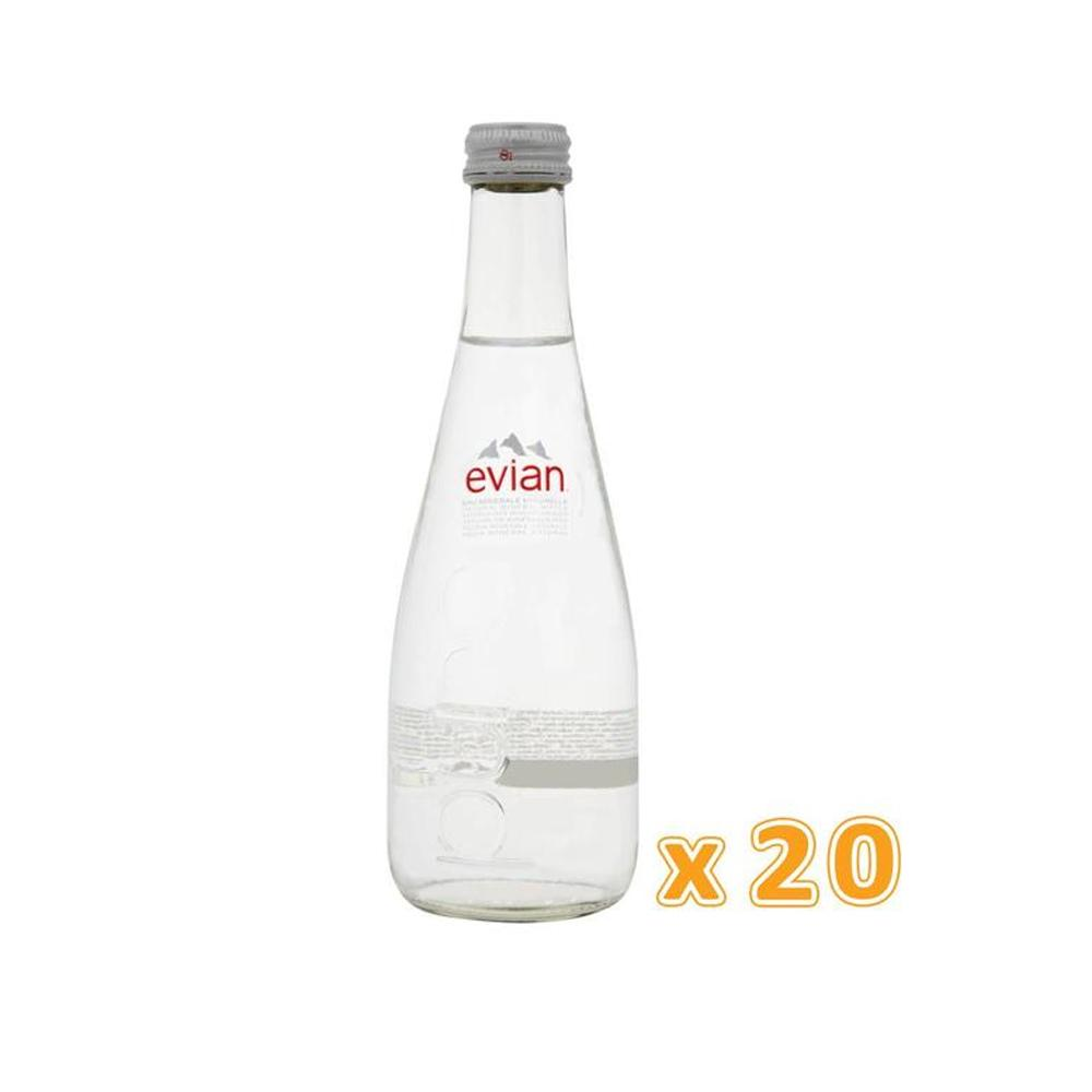 Evian Natural Mineral Water Glass Bottle (20 x 330 ml)