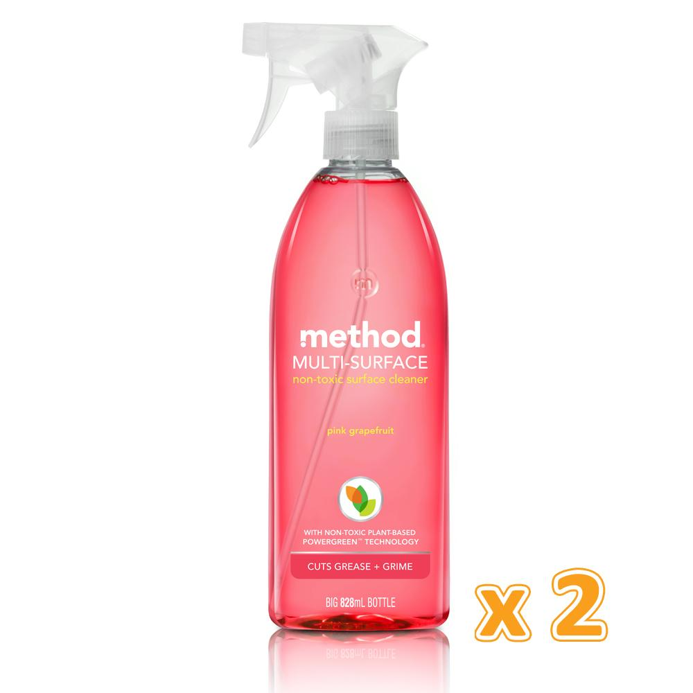 Method All Purpose Cleaner Spray Pink Grapefruit (2 x 828 ML) - Sanadeeg
