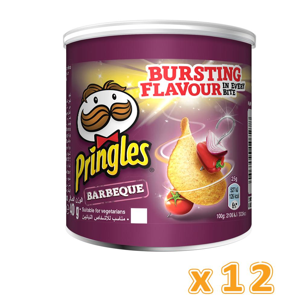 Pringles Barbecue Chips (12 x 40 Gm) - Sanadeeg