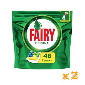 Fairy All in One Dishwasher Tabs (2 x 48 Pcs)