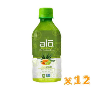 Alo Essentials Lime Spark Aloe Vera Juice (12 x 350 ml) - Sanadeeg