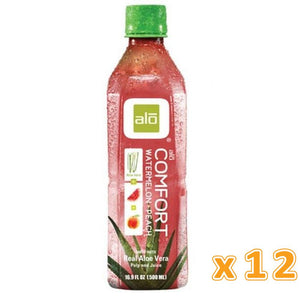 Alo Comfort Watermelon and Peach Aloe Vera Juice (12 x 500ml) - Sanadeeg