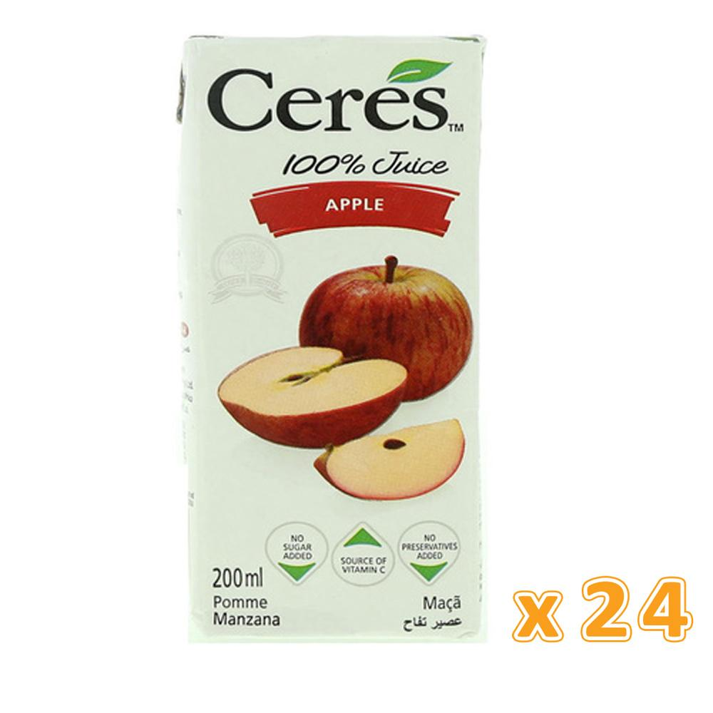 Ceres 100% Apple Juice (24 X 200 ML) - Sanadeeg
