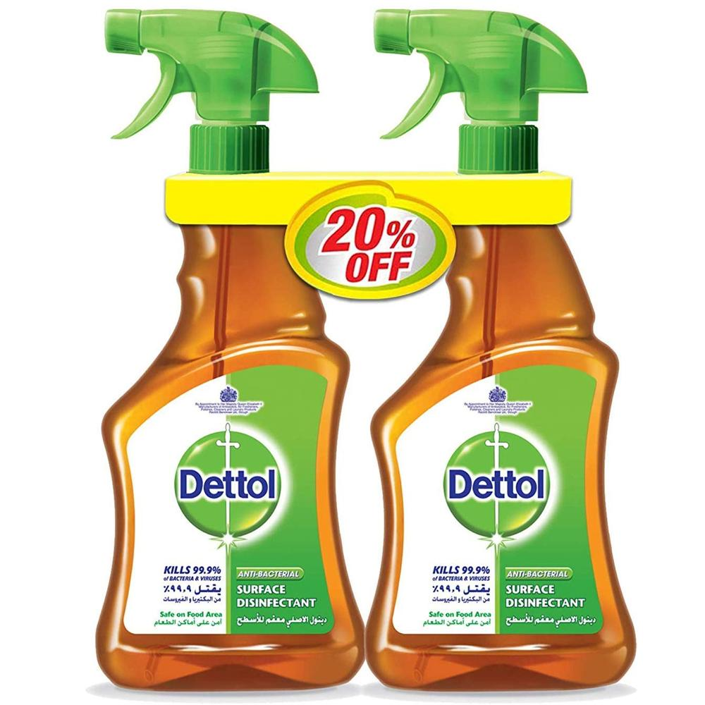 Dettol Liquid Surface Disinfictant Trigger (2 X 500 ml)