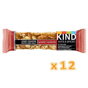 BE-KIND Honey Roasted Nuts & Sea Salt (12 Bars)
