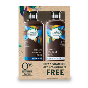 Herbal Essences Coconut Milk Shampoo( 400 ml ) + Herbal Essences  Coconut Milk Conditioner ( 400 ml ) - Sanadeeg