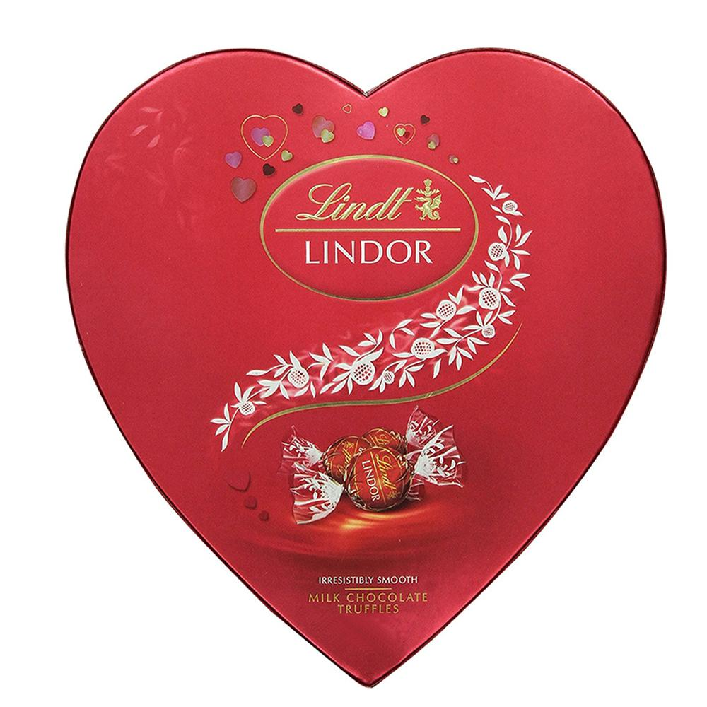 Lindt Lindor Milk Heart Chocolate Box (160 GM) - Sanadeeg