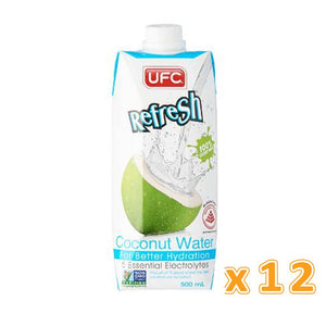 UFC REFRESH 100% COCONUT WATER ( 12 x 500 ML) - Sanadeeg