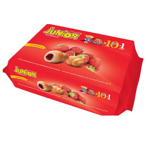 Junior Mini Croissant Strawberry (10 + 1 Pouches) - Sanadeeg