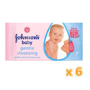 Johnson's Gentle Cleansing Wipes (6 x 56 Wipes) - Sanadeeg