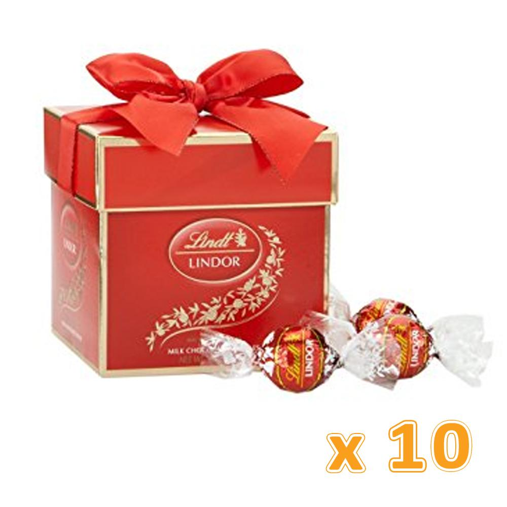 Lindt Lindor Chocolate Milk Balls Gift Box (10 x 75 GM) - Sanadeeg
