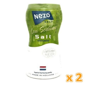 Nezo Low Sodium Salt with Iodine ( 2 x 450 Gm) - Sanadeeg
