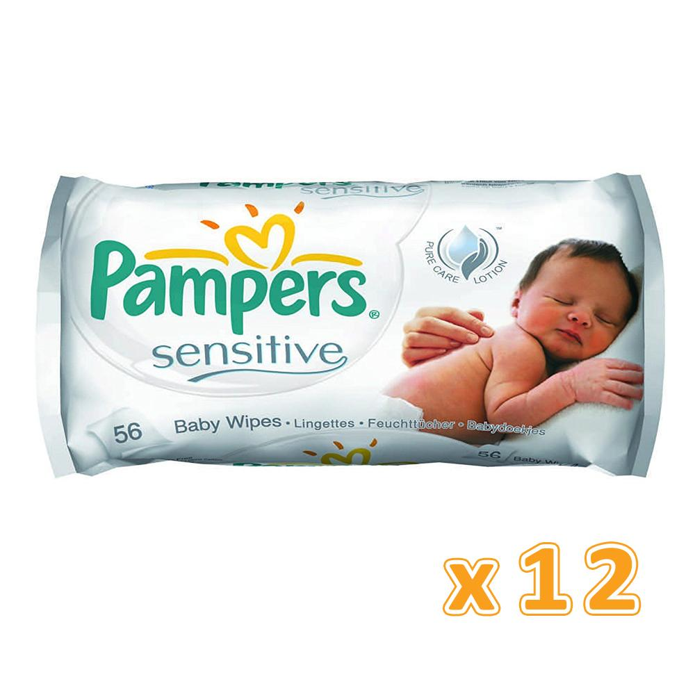 Pampers Sensitive Baby Wipes (12 x 56's) - Sanadeeg