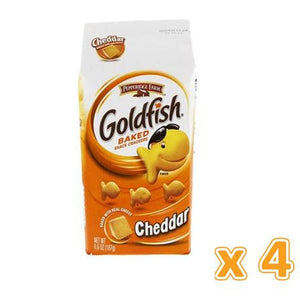 Peppridge Farm GoldFish Baked Snack Crackers - Cheddar (4 X 187 gm) - Sanadeeg