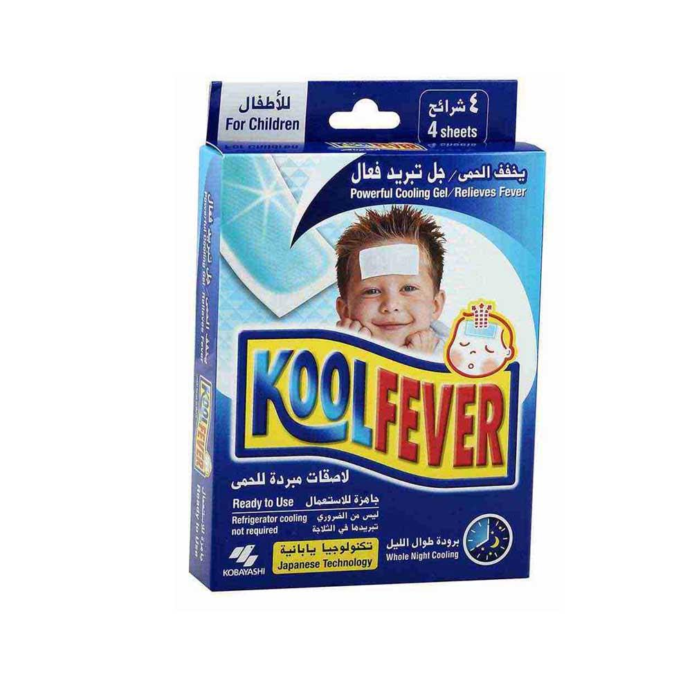 Kobayashi Kool Fever Powerful Cooling Gel Patches For Children ( 4 Patches) - Sanadeeg
