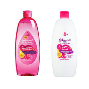 Johnson's Shiny Drops Kids Shampoo 500 ML + Johnson's Shiny Drops Kids Condition 500 ML - Sanadeeg