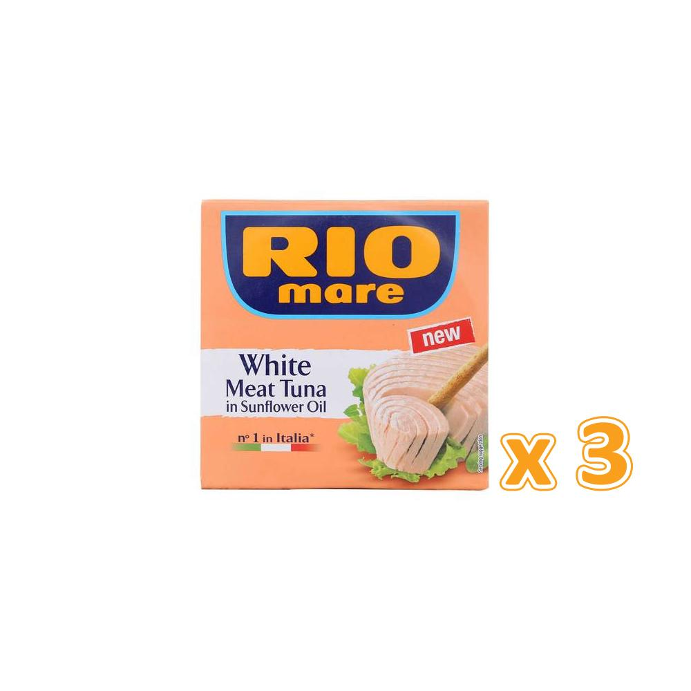 Rio Mare White Meat Tuna in Sunflower Oil (3 x 160 gm)