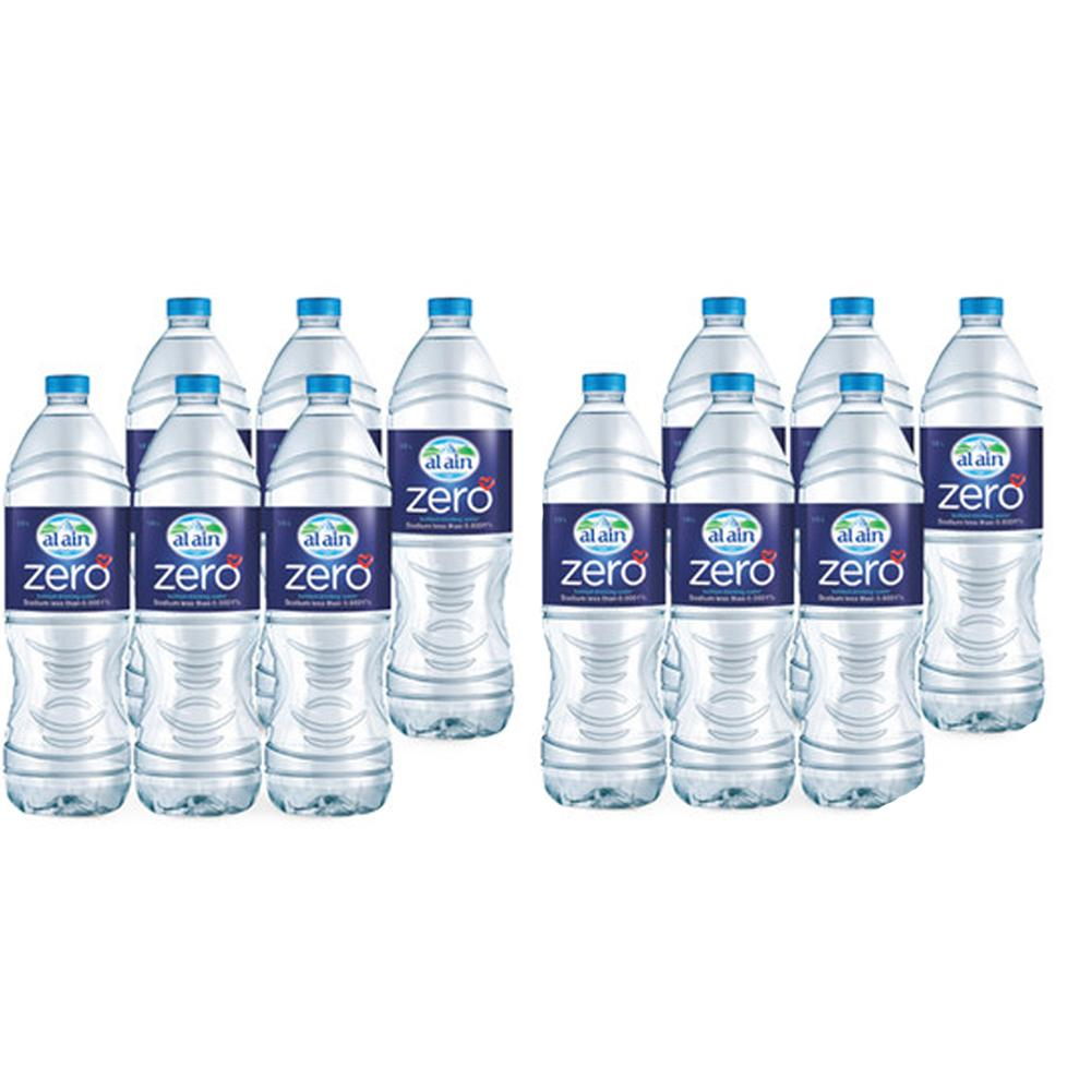 Al Ain Bottled Drinking Water Zero Sodium (12 x 1.5 L)