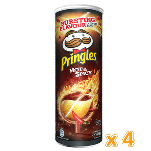Pringles Hot & Spicy Chips (4 x 165 Gm) - Sanadeeg