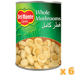 Del Monte Whole Mushrooms (6 X 400 Gm) - Sanadeeg