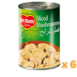 Del Monte Sliced Mushrooms (6 X 400 Gm) - Sanadeeg