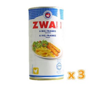 Zwan Chicken Big Franks (3 x 560 Gm)