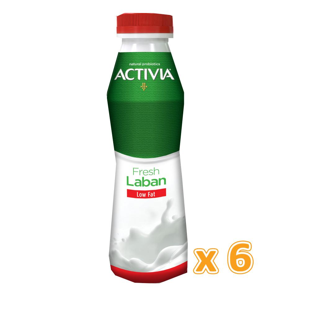 Activia Laban Low Fat (6 x 375ml)