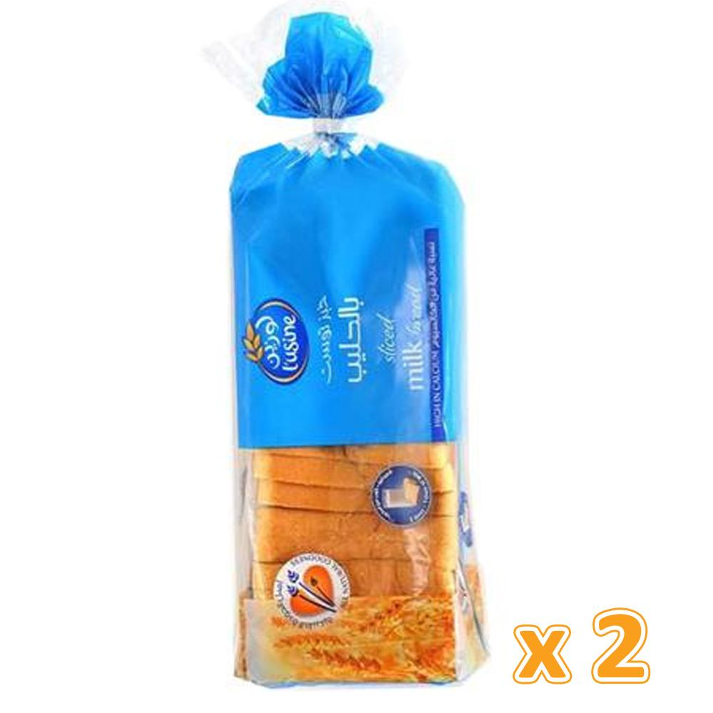 L'Usine Milk Sliced Bread ( 2 X 600 Gm) - Sanadeeg