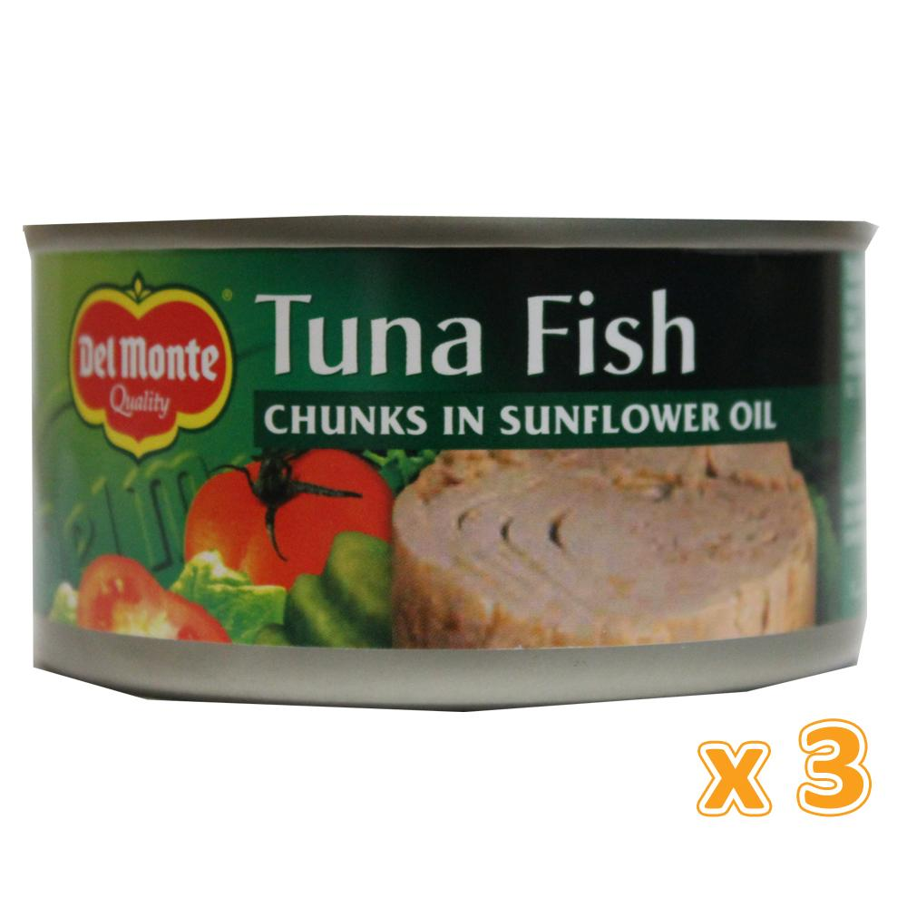 Del Monte Tuna Fish Chunks In Oil (3 X 185 Gm) - Sanadeeg