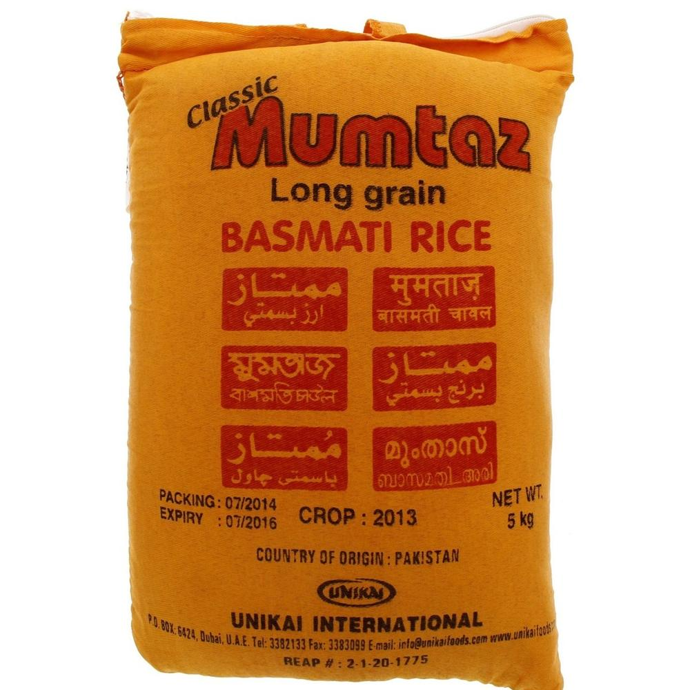 Mumtaz Long Grain Basmatic Rice (5kg)