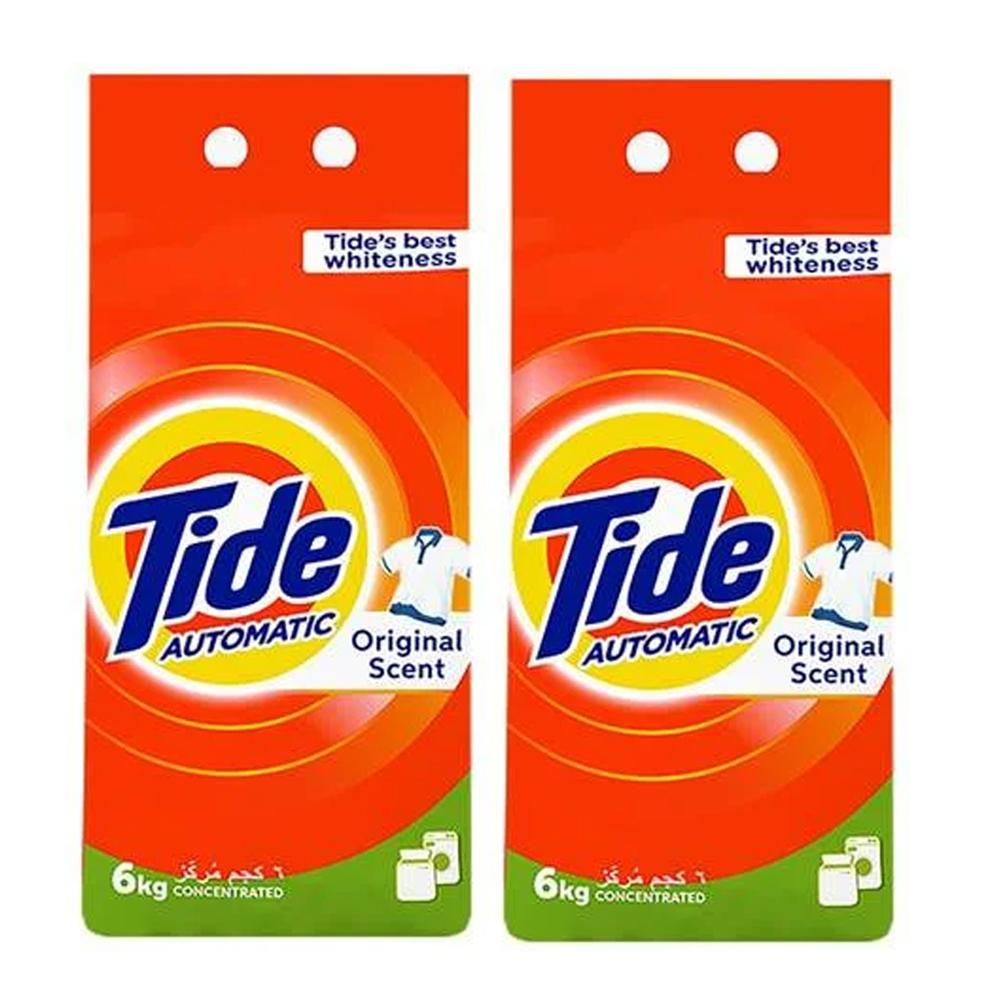Tide Automatic Washing Powder Concentrated Original Scent (2 x 6 KG)