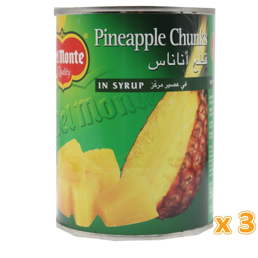 Del Monte Pineapple Chunks In Syrup (3 X 570 Gm) - Sanadeeg