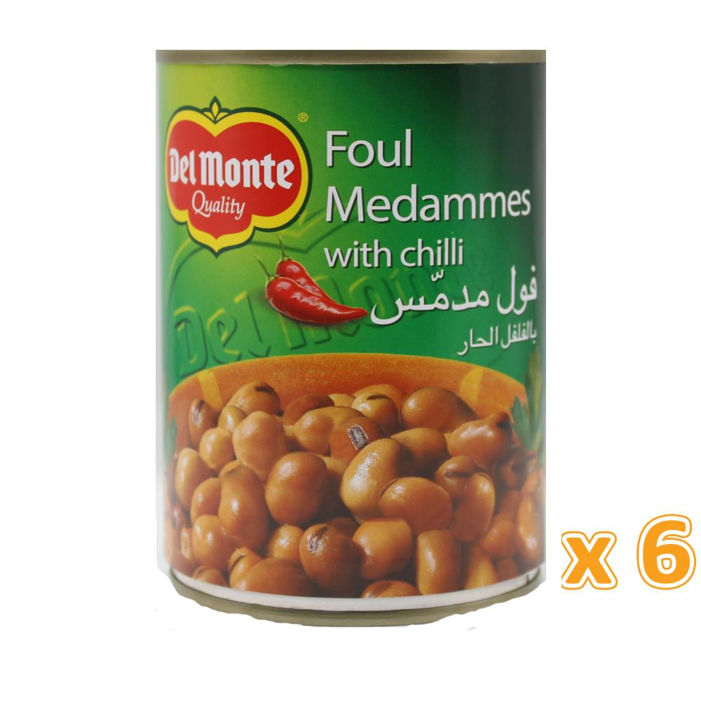 Del Monte Foul Medammas With Chilli (6 X 400 Gm) - Sanadeeg