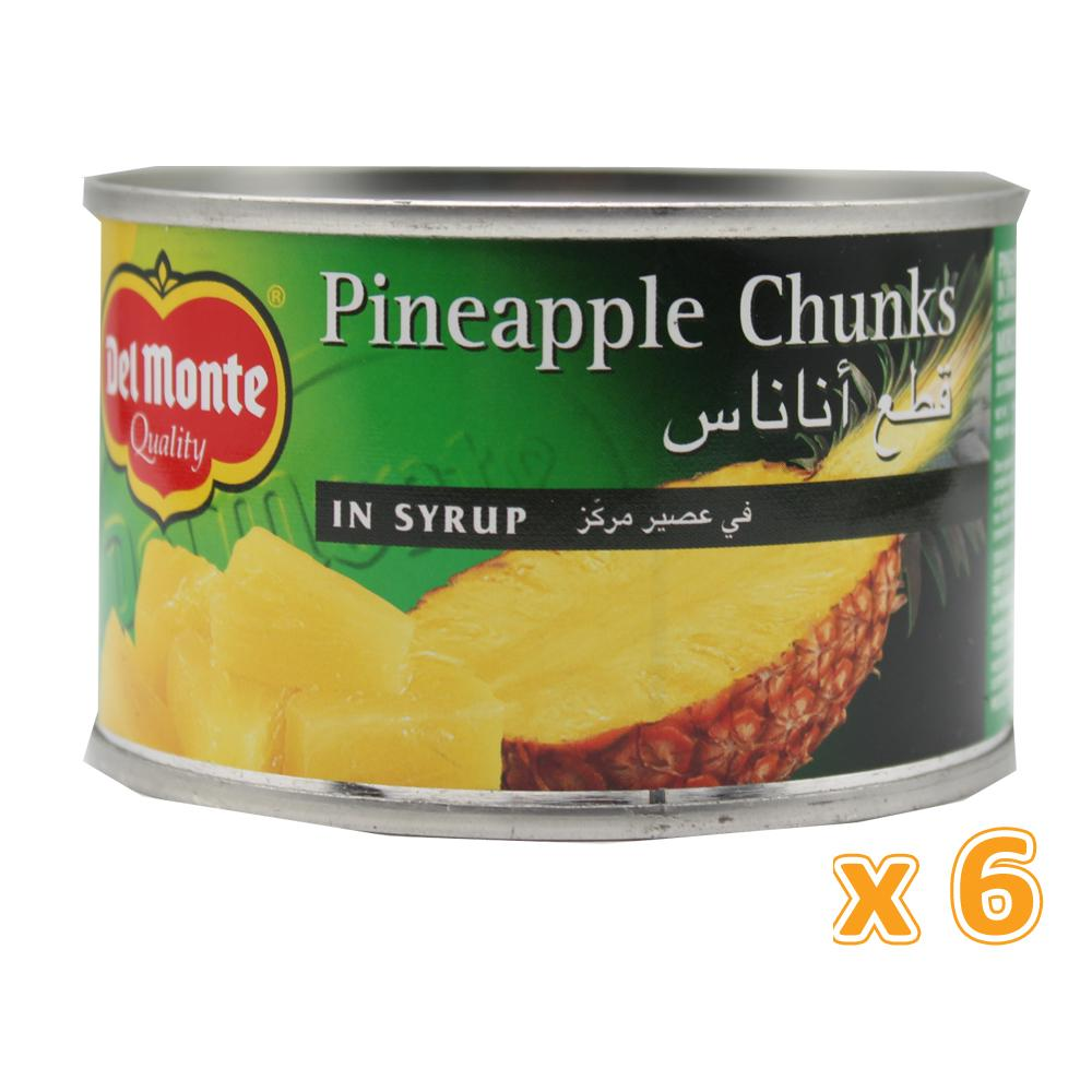Del Monte Pineapple Chunks in Syrup (6 X 234 Gm) - Sanadeeg