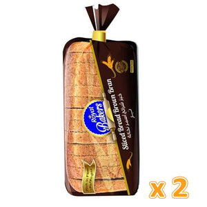 Royal Bakers Brown Sliced Bread Large ( 2 X 625 Gm) - Sanadeeg