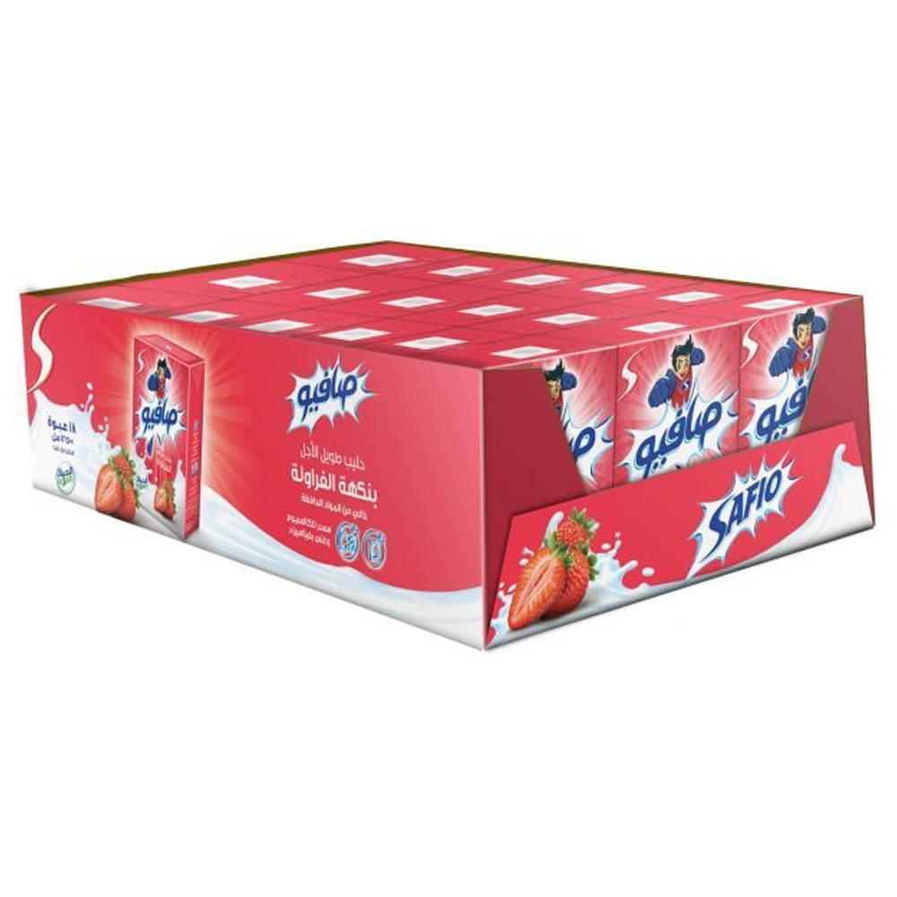 Safio Flavored Milk Strawberry (18 x 125 ml)