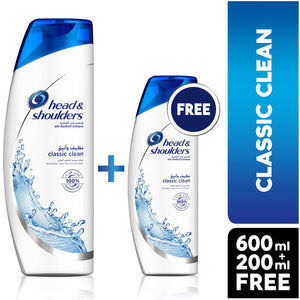 Head & Shoulders Classic Clean Anti-Dandruff Shampoo (600 ml + 200 ml Free)