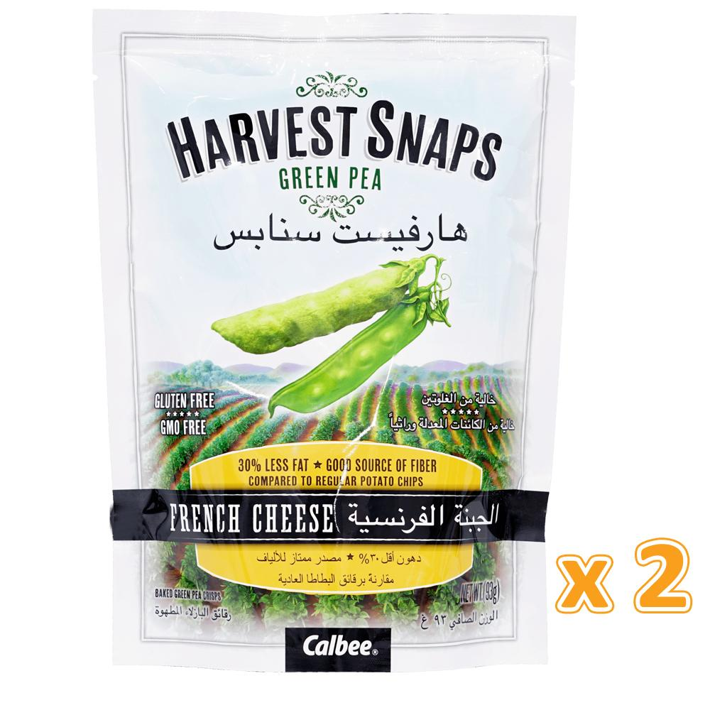 Harvest Snaps Green Pea Crisps French Cheese(2 x 93 Gm) - Sanadeeg