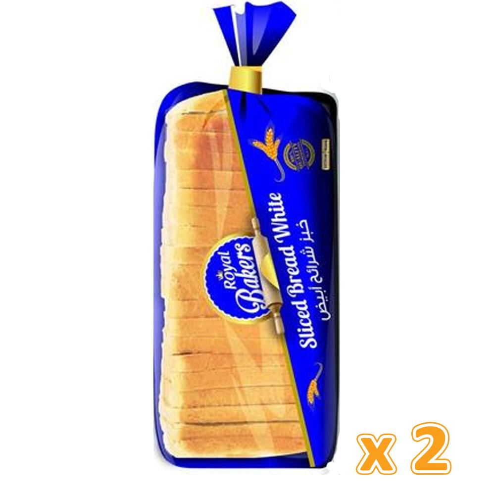Royal Bakers White Sliced Bread Large (2 X 625 Gm) - Sanadeeg